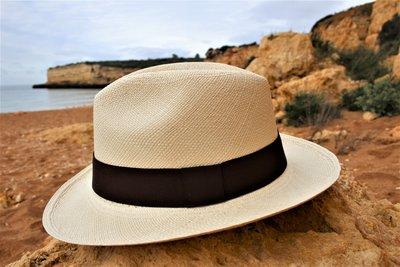 Panamahoed Fedora Natural (brede rand)